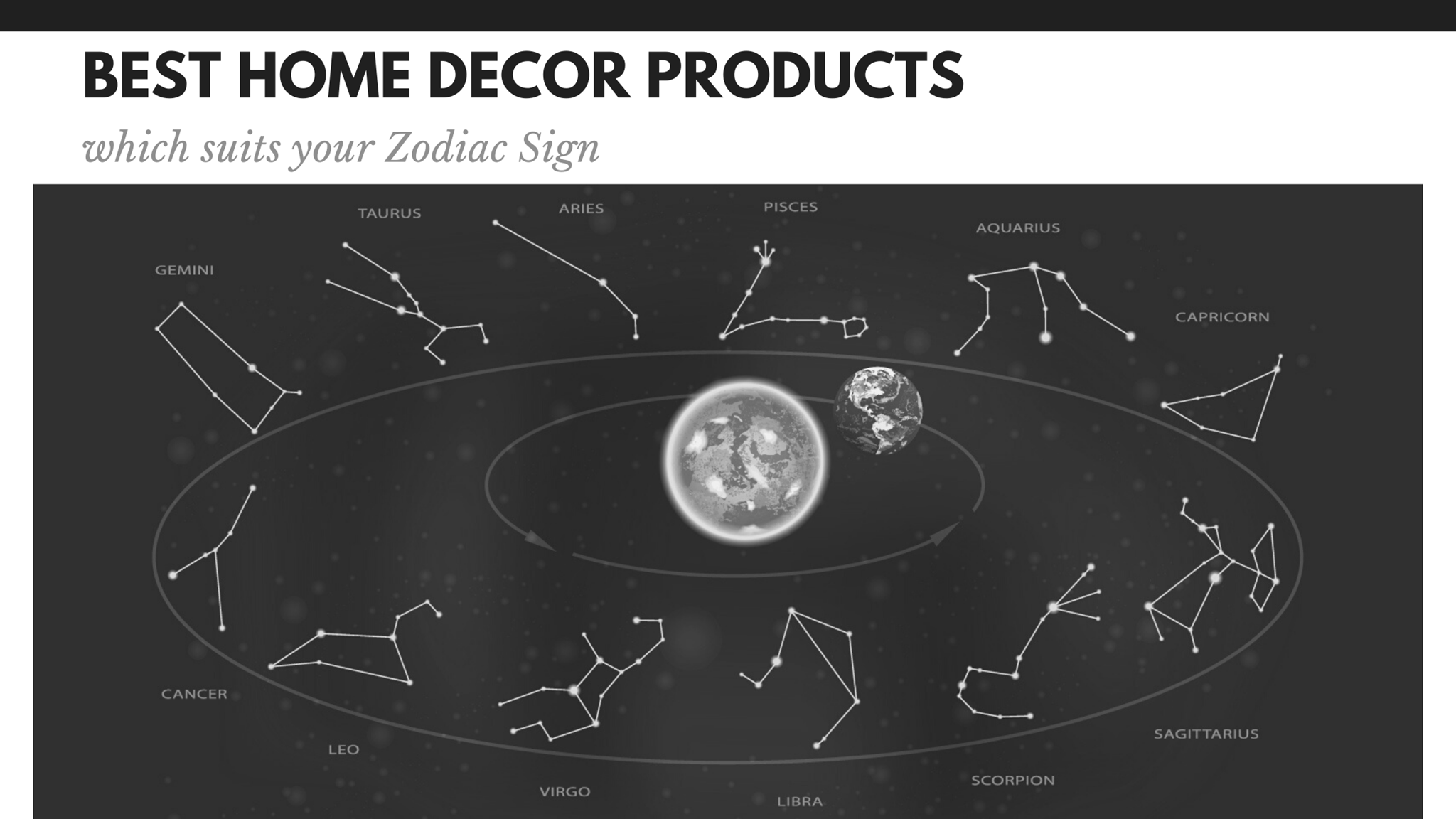 Best Home Decor Products which suits your Zodiac Sign